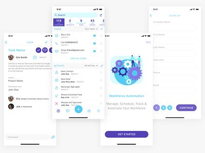 Some of the screens for IMSBA app organizer task management app ui mobile app ios app design ux ui illustration business app mobile ui app business