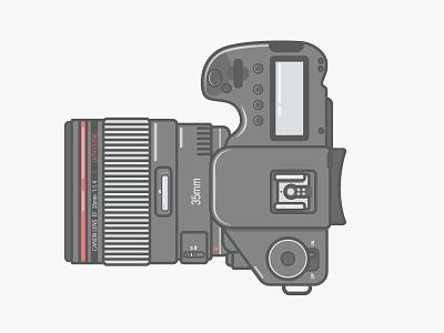 Canon 5D Mark III minimal line art vector flat flat design canon mark iii 5d camera illustration 2d