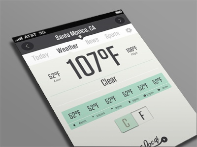 Locqi app html5 weather interface