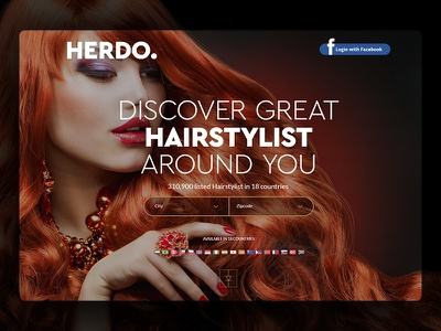 Herdo Website Design web design modelling female hairstyle user experience user interface ux ui daily ui website