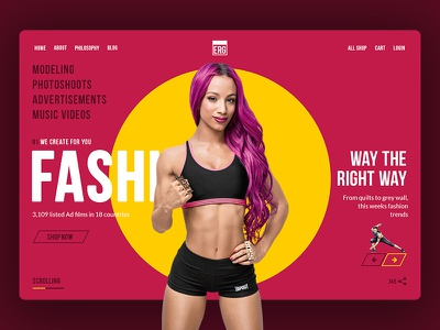 Fashiot Project - Fitness and Fashion web design daily ui ui sketchapp uidesign dailyui materialon interaction hover grid user cleanui ux interface