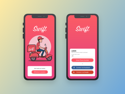 Food delivery App Login Design login design login screen login page interface daily ui ux sketchapp cafe red restaurant food app user interface ui dailyui ios app design delivery login