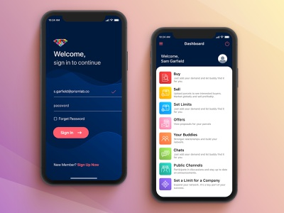 Safetrade Mobile App UI Design sign in ui login page login user experience waves dark ui user interface iphone rebound sketchapp design interface mobile ios app daily ui ux ui