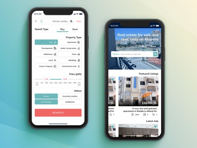 Khareta property listings user experience user interface android sketchapp iphone design interface mobile ios app daily ui ux ui