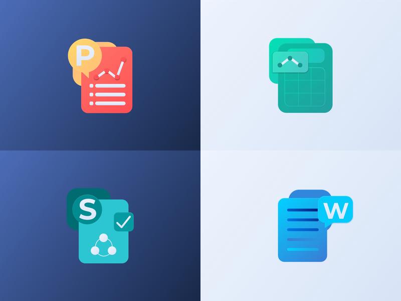 Microsoft pack rebranding icons iconredesign rebranding microsoft powerpoint word excel slideshare microsoft word microsoft