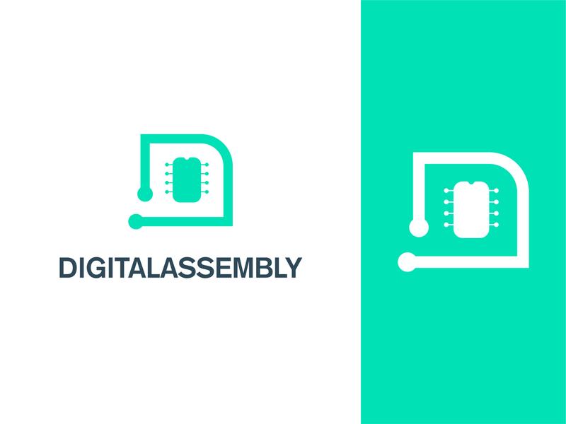 Digital Assembly logo concept logoconcept logos branding concept logo