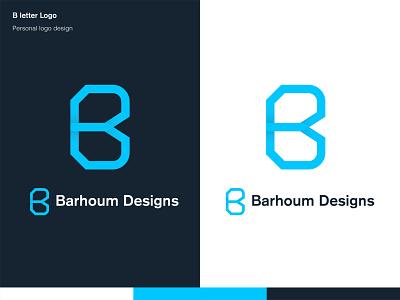 Personal Logo Design b letter letter logos logoconcept design logo