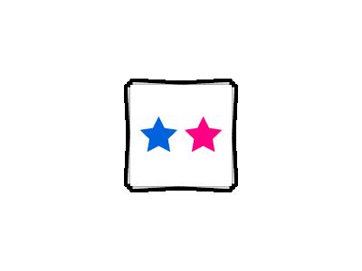 Application Icon logo icon pink blue photo application