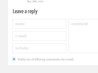 2011 Blog: Comment Detail 2011 minimal clean blog wordpress comments detail