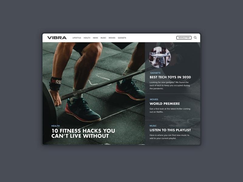 Men's Blog Landing Page design mens health landingpage blog