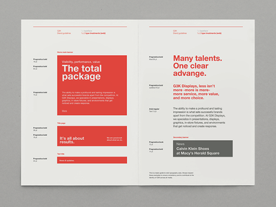Style Guide - G3K red flat design print identity brand guidelines stationary guideline guide style branding brand