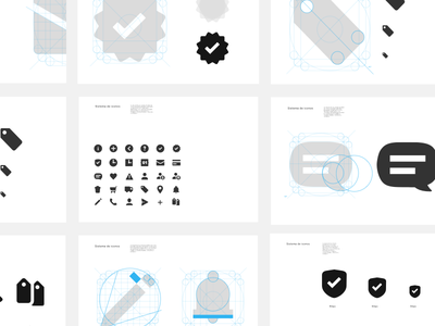 Icon system - Style guide - Mercado Libre App animated vector ui app animation motion clean message product modal mailbox