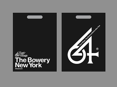 64 East Village - Bag bag typography type design residence bowery new york real state brand branding logo