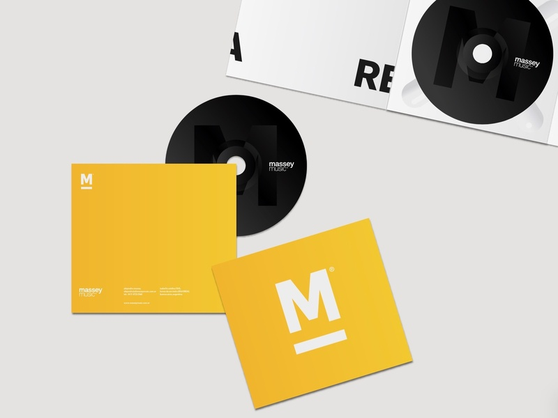 massey music mark typography brand color vector flat clean type logo design branding