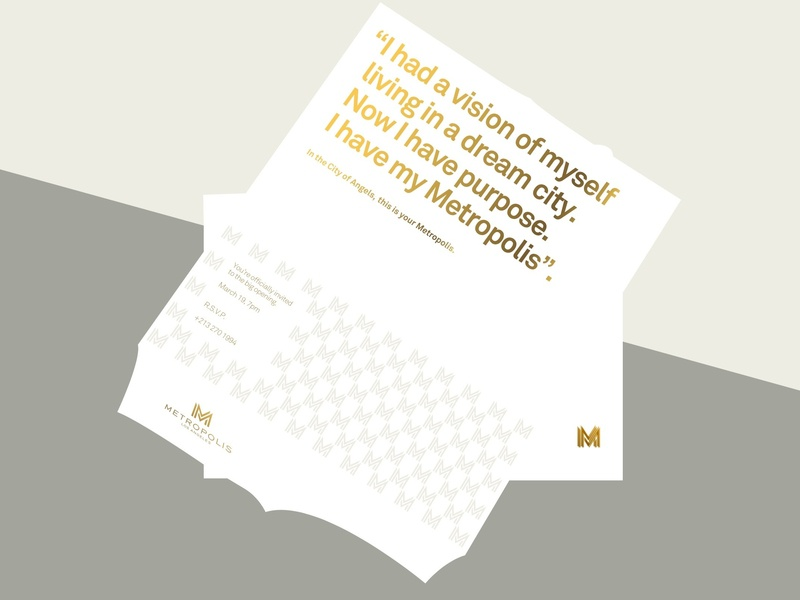 Branding for a real estate project gold ink gold typography clean type design branding brand