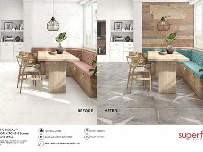Floor & Wall Mockup