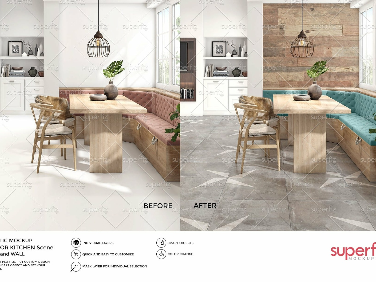 Floor Wall Mockup By Interior Design On Dribbble