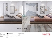 Floor&Wall&Frame Mockup Bedroom