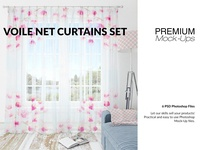 Voile Curtain Lampshade Blanket Set