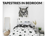Tapestries in Bedroom - Many Sizes