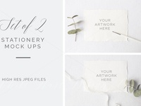 BUNDLE X 2 Stationery Mock ups