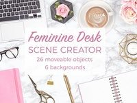 Feminine Desk Scene Creator