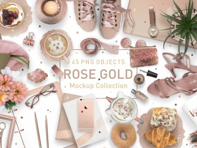 Rose Gold Mockup Collection
