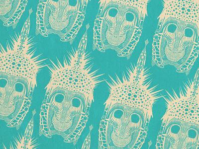 Radiolarian Skull Warrior pattern helmet skull art forms in nature haeckel radiolaria truegrittexturesupply procreate ipad illustration design applepencil