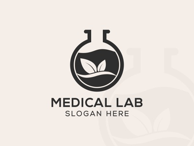 Medical Lab Logo lab logo business vector branding medical laboratory science design abstract illustration pharmacy chemical creative biology