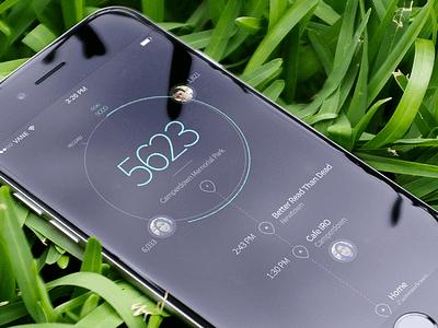 Step Pedometer App Concept once a week mobile app step pedometer design ui ux futuristic minimal simple clean