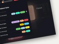 Save / Load Ambient Mixes mixer dark theme ambient sound windows mac desktop app