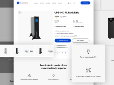 UI / UX Product Detail Page - Industronic