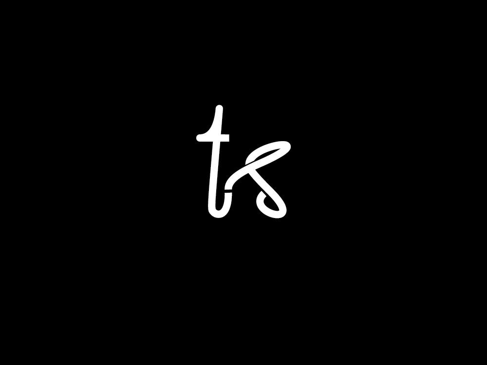 k + t + s lettermark continuous line oneline lineart white letter t letter s letter k modern logodesign lettermark simple logo branding clean
