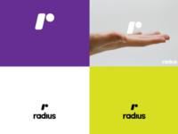 lettermark r (radius) proposal logo