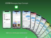 iOS13 Messages App Concept