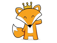 Fox with a crown