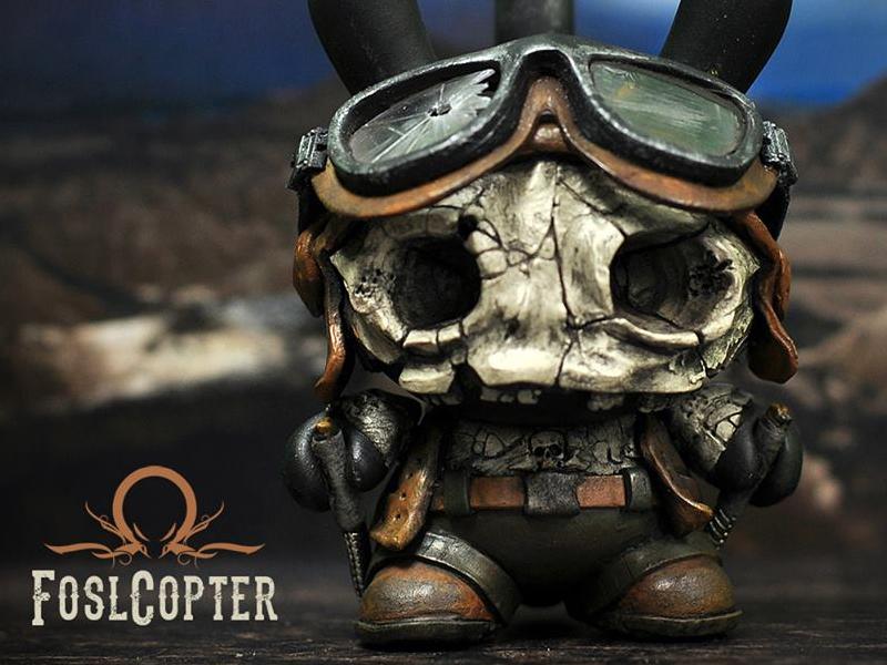 FoslCopter art paint miniatures custom toy
