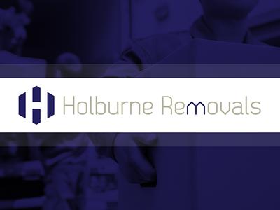 Holburne Removals Branding (Concept) negative space bricks home house removals branding logo