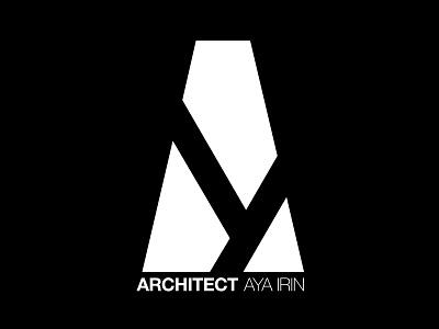 Branding Architect Aya clever logo negative space minimalistic modern abstract a white black branding logo