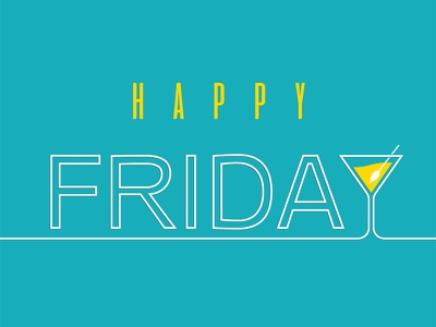 Happy Friday logo design martini weekend party branding logo banner friday happy cocktail