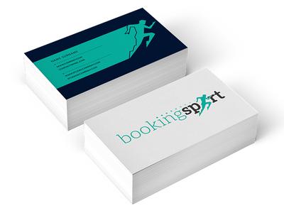 Sport Theme Business Card business card print branding logo mockup silhouette running run sport