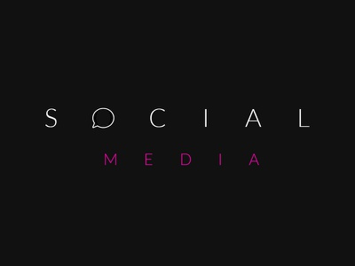 What is your favourite Social Media platform to use? creative design negative space speech icon social media icon branding logo