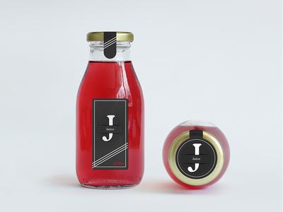 Juice Packaging Design minimalistic label mockup clean modern logo branding bottle juice packaging