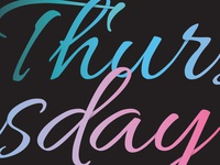 Thursday Dribble