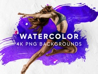 Watercolor Backgrounds - 4K PNGs