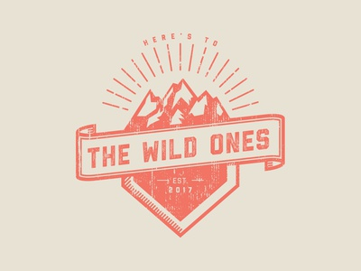 Here's to the Wild Ones | Logo design branding illustration logodesign logo