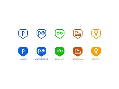 Points of interest map icons