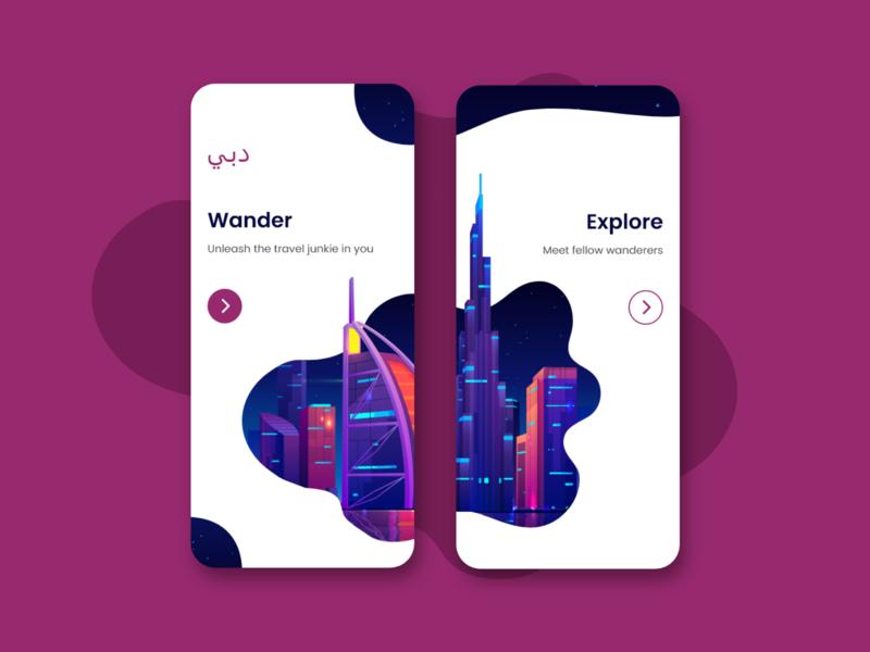 Travel Guide App | Onboarding UI mobile onboarding screen onboarding guide travel ux ui illustration minimal design