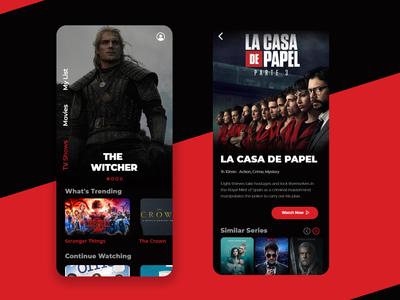 Netflix App UI Concept