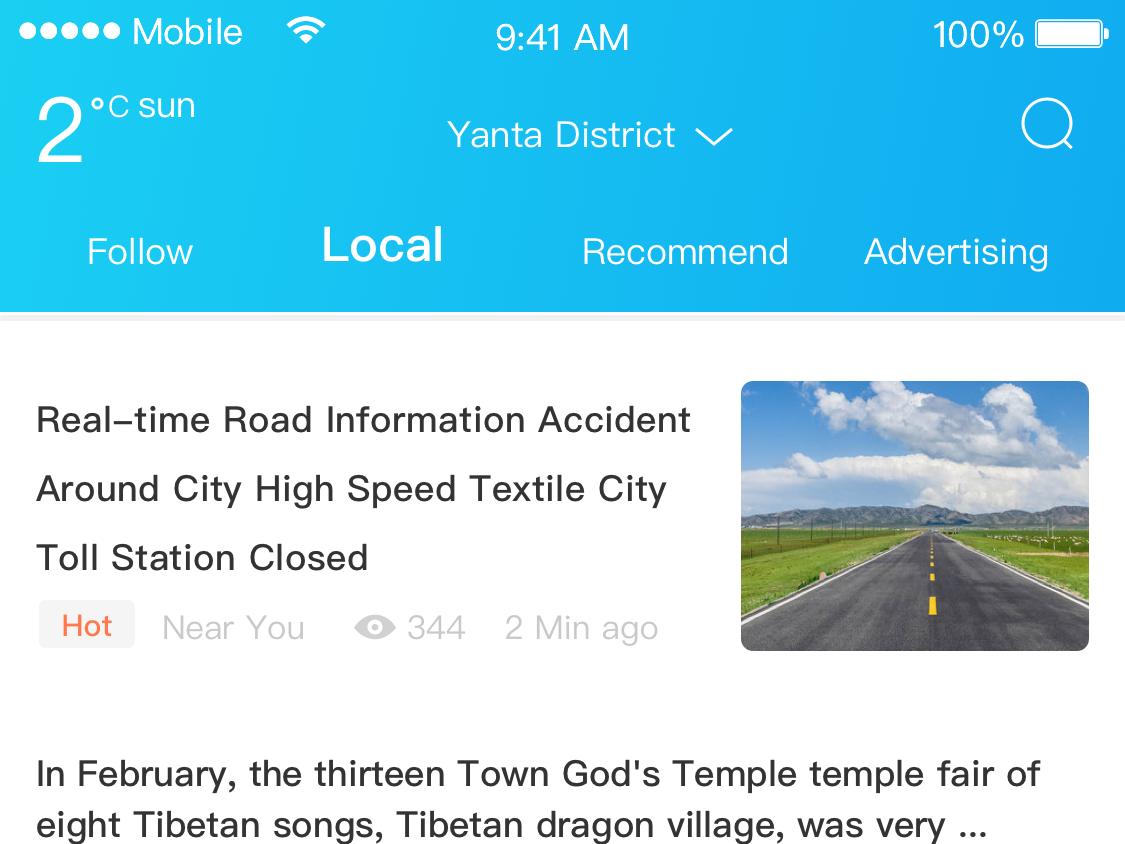 NEAR YOU  NEWS APP app  design